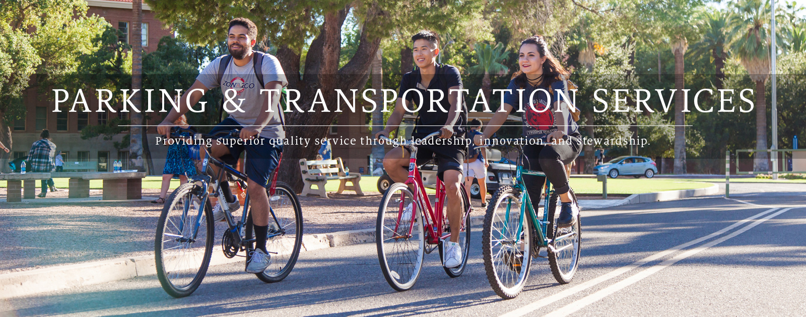 UA Parking & Transportation Home Page Banner